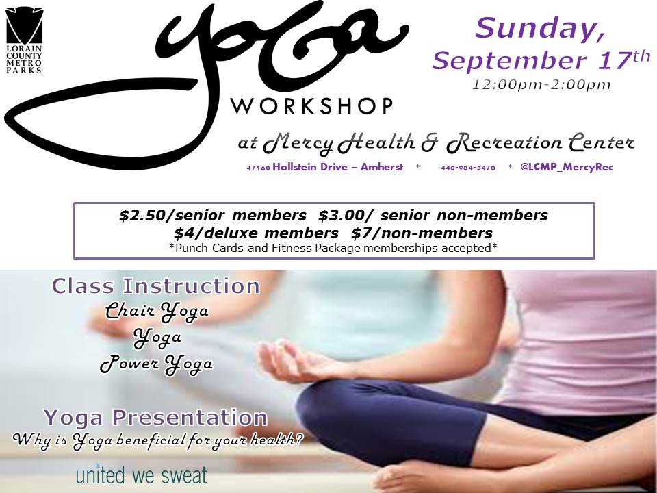 Yoga Workshop At Mercy Health Recreation Center